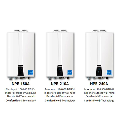 Stocking NPE Series - Wall-Hung Tankless Water HeatersStocking All Models