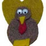hilarious felt turkey pin