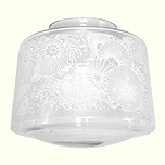 "aria 4408 etched, schoolhouse electric, $65 shade only (fits 4"" fitter)"