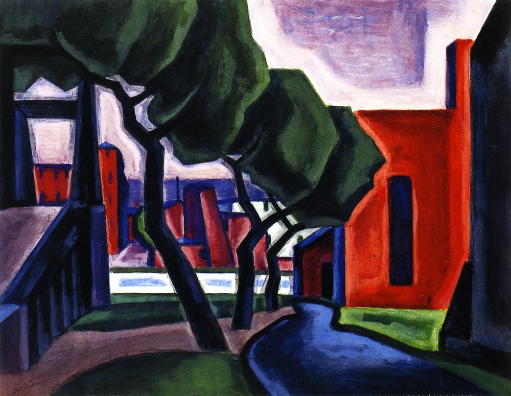 Approach of Night (Hoboken), 1914