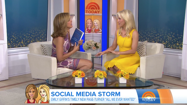 "Hoda Kotb's favorite author, Emily Giffin, joins the fourth hour to talk about her newest book, ""All We Ever Wanted."" ""If you want to read a book you cannot put down … this is the book to pick up,"" Hoda says."