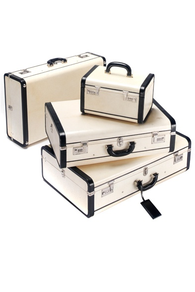 Prada's pristine black and white luggage
