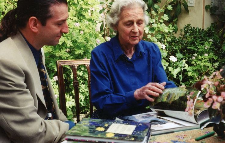 My visit with Rosemary Verey in her conservatory at Barnsley House.