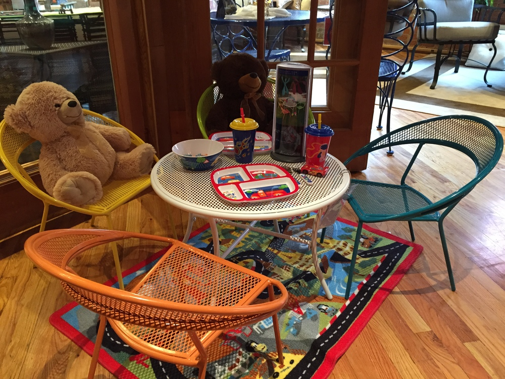 Indestructable, whimsical, safe, and comfortable, Woodard Furniture offers the perfect solution for children's rooms.