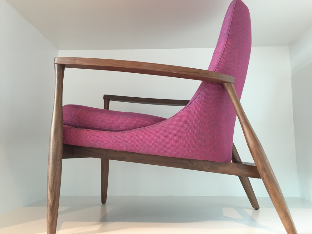 Aaron Chair in Radiant Orchid from American Leather