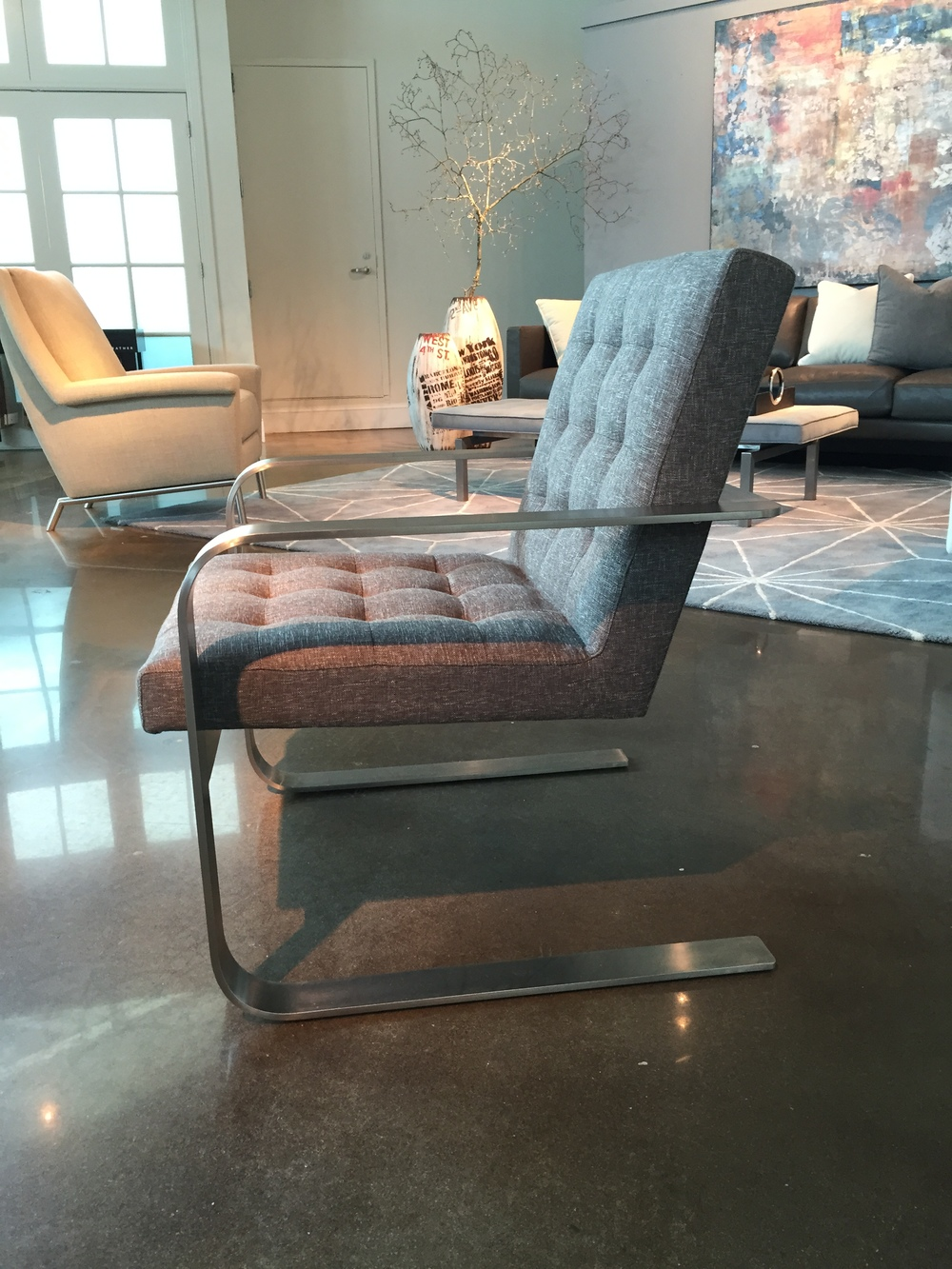 The Beck Chair is extremely comfortable and eternally beautiful! American Leather offers this iconic form in a broad range of leathers, suedes, and fabrics.