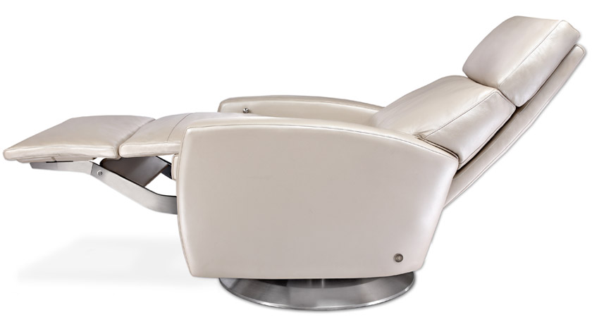 Advanced Ergonomics make the Comfort Recliner from American Leather the industry Favorite