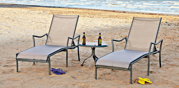 """Dominica, Casual """"Flip-Flop"""" Sand between your toes relaxation courtesy of Woodward Furniture."""