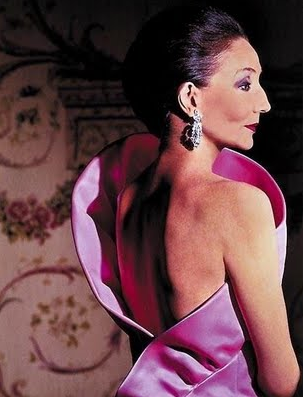 Jacqueline in an exquisite gown of her own design.