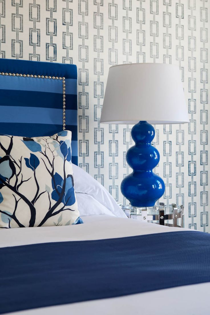 Cobalt Accessories and Headboard work perfectly for residential or hotel bedrooms.