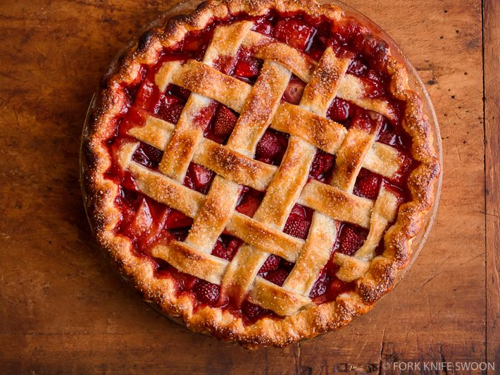 But is it Art? In my opinion there is nothing more beautiful that a lattice top fruit pie. My personal favorite is a fresh strawberry pie, red, sweet, and gorgeous!