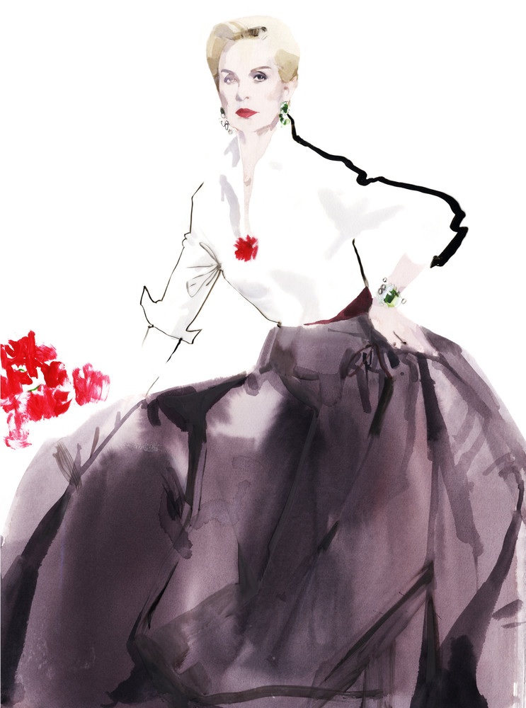 Carolina Herrera by David Downton