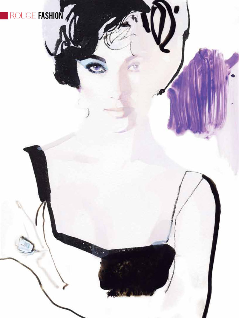 Elizabeth Taylor, those extraordinary violet eyes as imagined by David Downton.