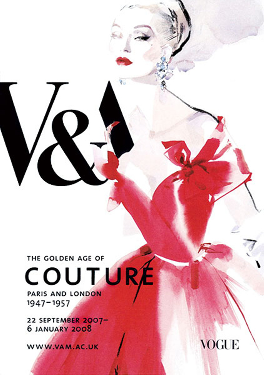 David Downton for the Victoria & Albert Museum, London.