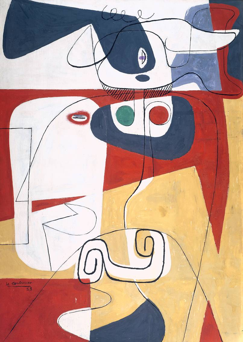 Bull III, one of 300 paintings by Le Corbusier