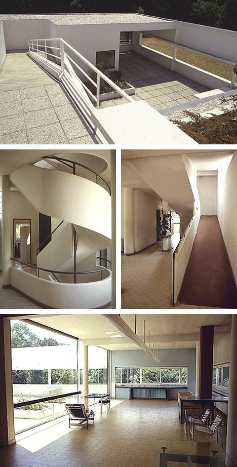 Interior Views of the Villa Savoye
