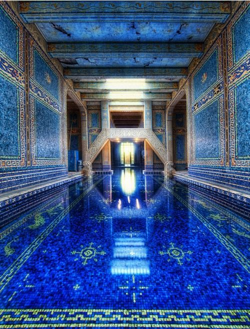 Julia Morgan's Azure Pool at Hearst Castle, San Simeon, CA