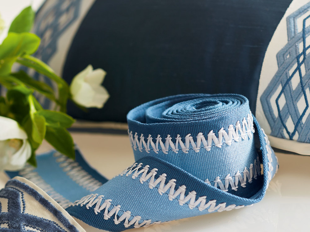 Glorious Blues from Travers Trims