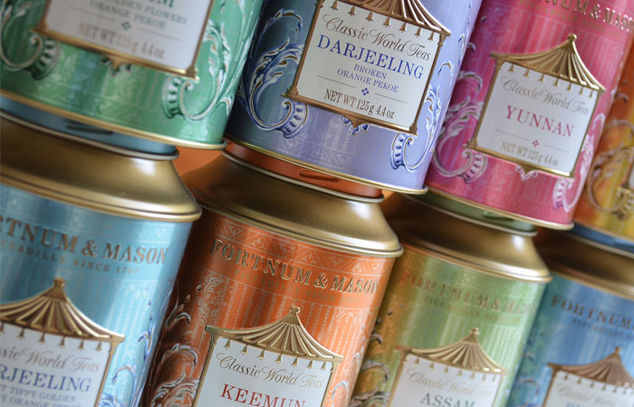 All the great teas of the world can be found at Fortnum & Mason.