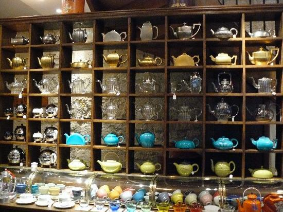 A Spectacular Collection of Tea Pots at Mariage Freres