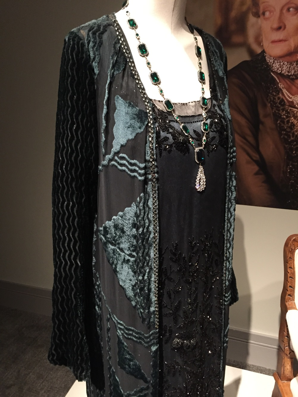 An impeccably detailed Art Deco dress worn by Martha Levinson