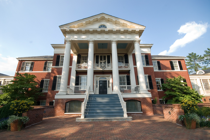 The historic Faulkner House, now The Miller Center of Public Affairs at The University of Virginia.