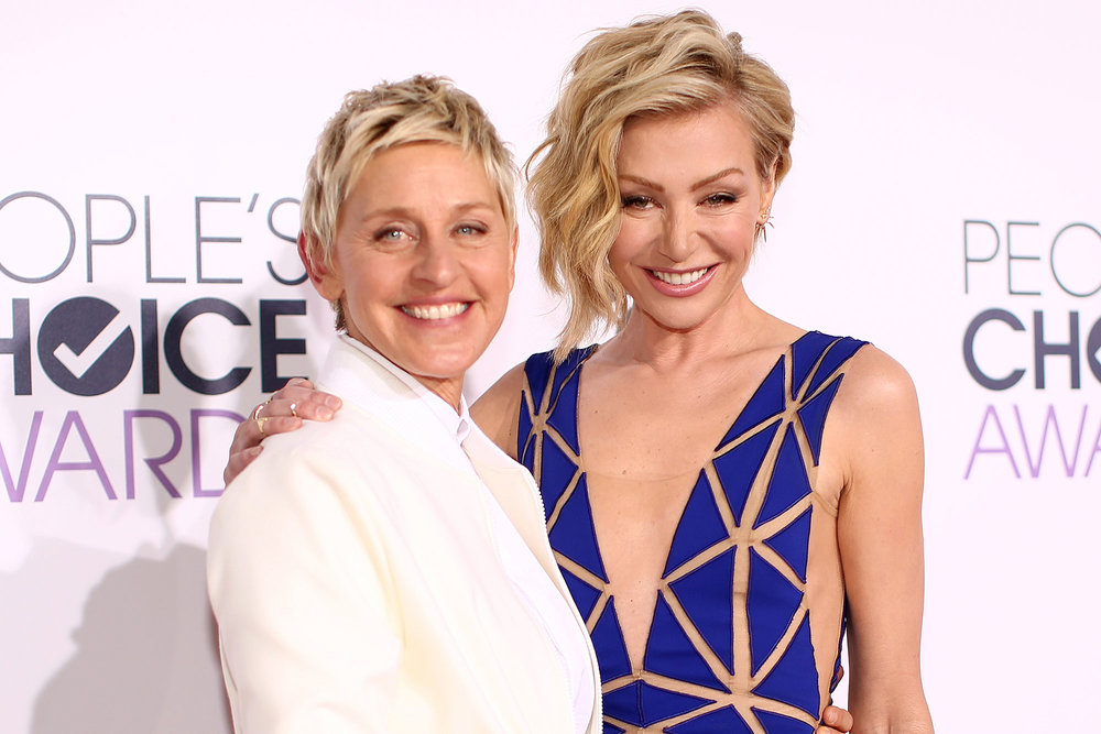 Ellen and Portia, a beautiful image of love!