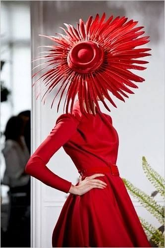 Vintage, 1950's, Christian Dior, the Hat Steals the Scene!