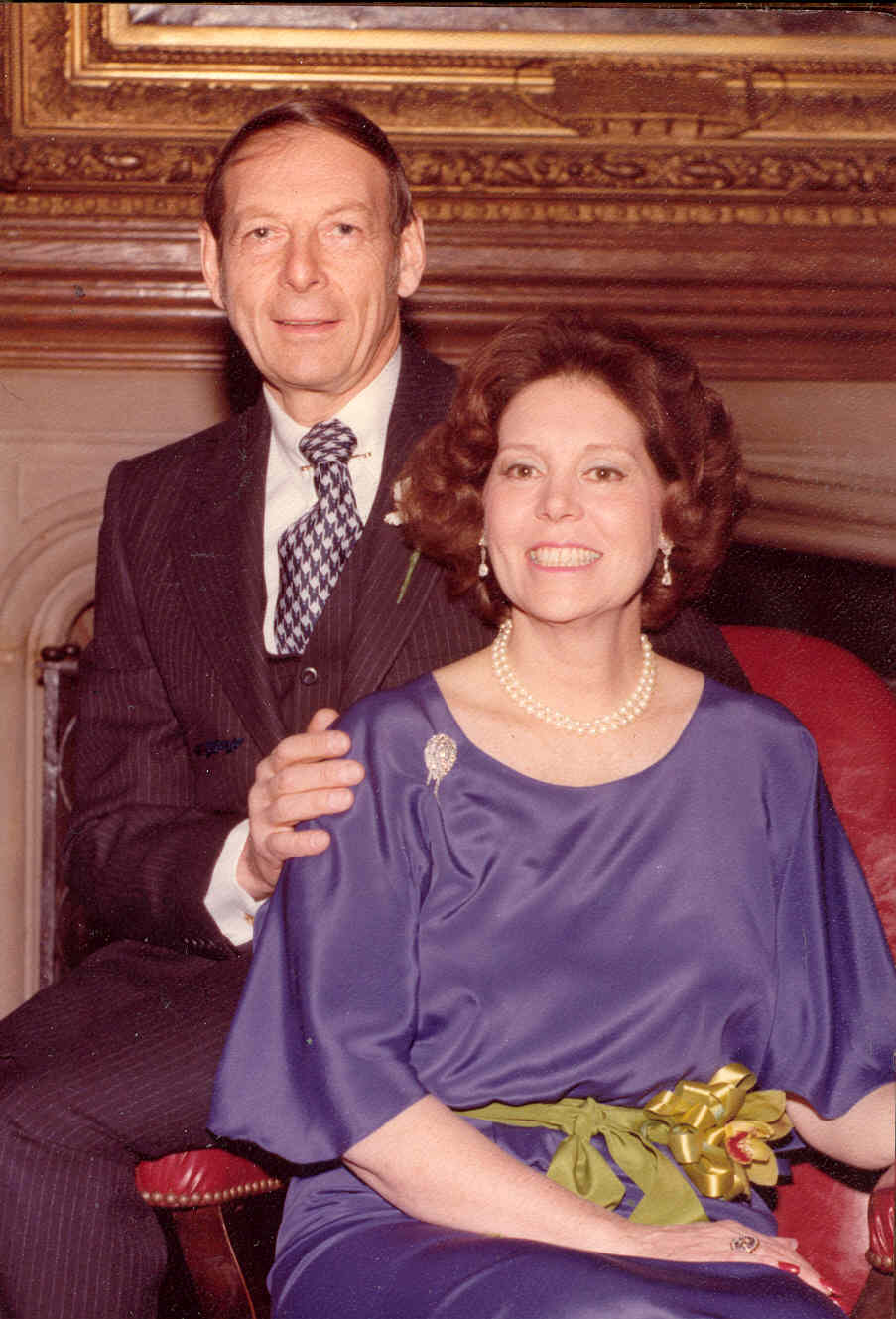 Edward Stuart Tishman (March 20, 1923- March 12, 2019) and his dear wife, Jan on the day of their son, Douglas Tishman's wedding.