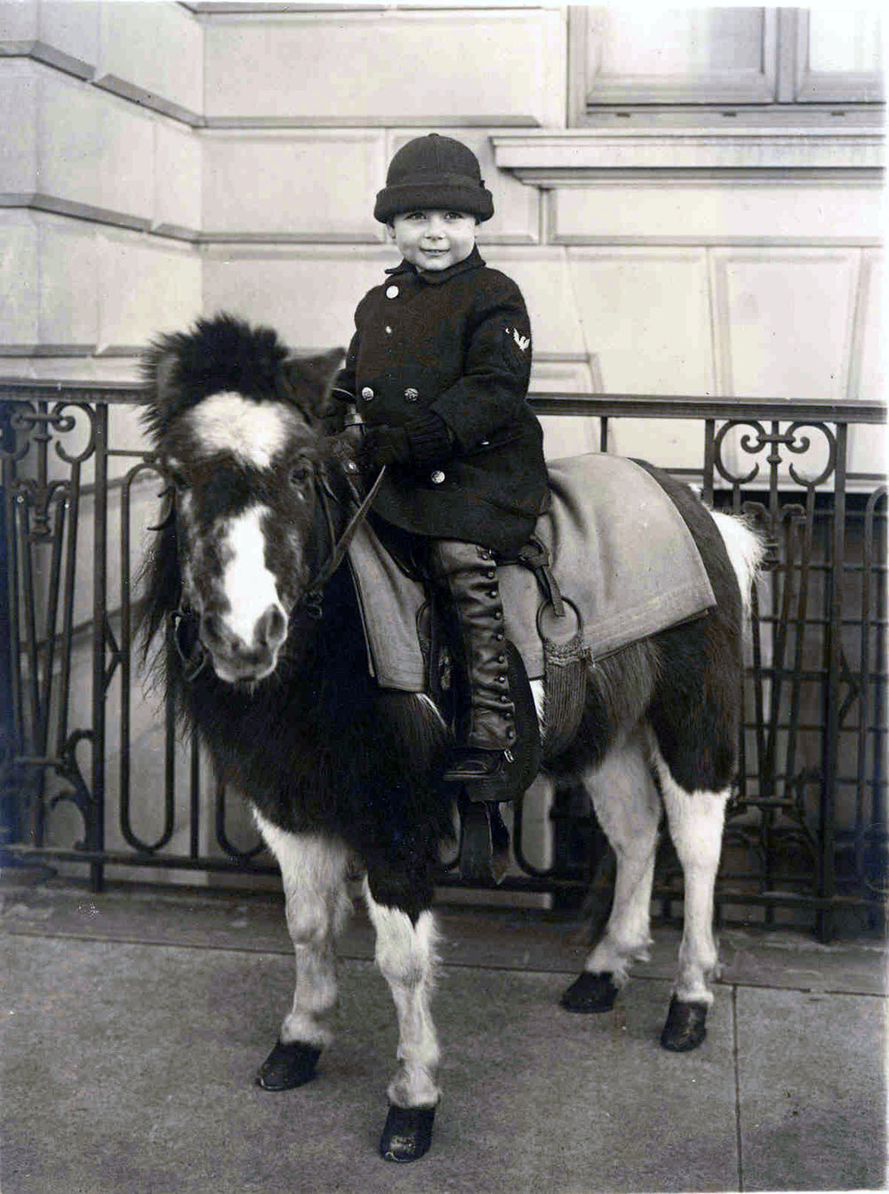 Edward Stuart Tishman, 1927, His equestrian life already beginning at Age 4.