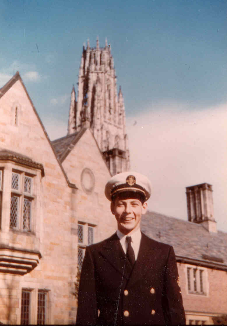 Young Edward Tishman as a student and member of the ROTC program at Yale University in 1942.