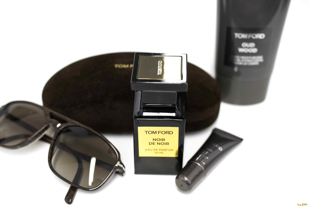 """Men's Essentials. 9.11.14 Some of my favorites, happen to be Tom Ford.  If you know me, you know that I have a philosophy on everything (Because Philosophy sounds so much better than opinion HA!). But to be completely earnest, a philosophy is a thought out understanding, or at least approaching the understanding of something. So these are my essentials. They all have meaning behind them.   Glares: First off... let me explain """"glares"""". I was in India doing a radio interview with Jeeturaaj on Radio Mirchi a few years ago (long story) but he was really the chillest guy. After the interview, we were asked to take some photos. Jeeturaaj was totally into it, but he would never show his face or take off his sunglasses. I asked him about it and he told me that he was all about anonymity. He said he loved that his 'thing' was just always about his voice. Then he said """"I never take off my glass"""". I said """"Glares? that's probably the coolest name I have ever heard for sunglasses"""". Because of his accent, I misunderstood, but we all liked the word 'glares' and that is what I have called them ever since. I feel like the eyes are very intimate. I feel like when talking with people, the eye contact is a very delicate thing. That being said, I can't let just anyone look into my soul like that!!! So these are literally the blinds, or at least the tints for the windows to my soul. I have found what I like and what I think works for me. A masculine frame. Very strong top bar and refined details. Nothing trendy, these have to last for decades. If it is not an aviator (which NEVER) goes out of style, these are my pick for the long haul. Dress them up, wear them casually, they just work!   Noir De Noir: This fragrance is easily one of the sexiest things you'll ever smell (along with the majority of Tom Ford's Private Blend collection). Thats not the key though. You've got to invest in more than one scent and once you do, mix the scents. I personally LOVE Tuscan Leather, but it is very, alm"""
