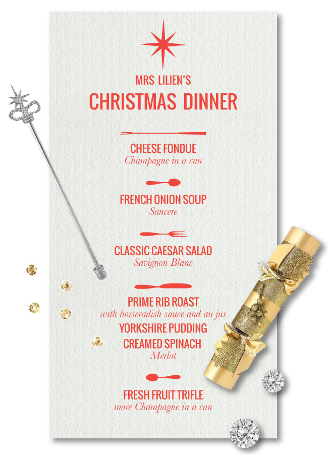Traditional Christmas Dinner Menu.Mrs Lilien S Christmas Dinner Menu Mrs Lilien