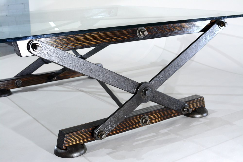 Industrial Coffee Table - Overarm A