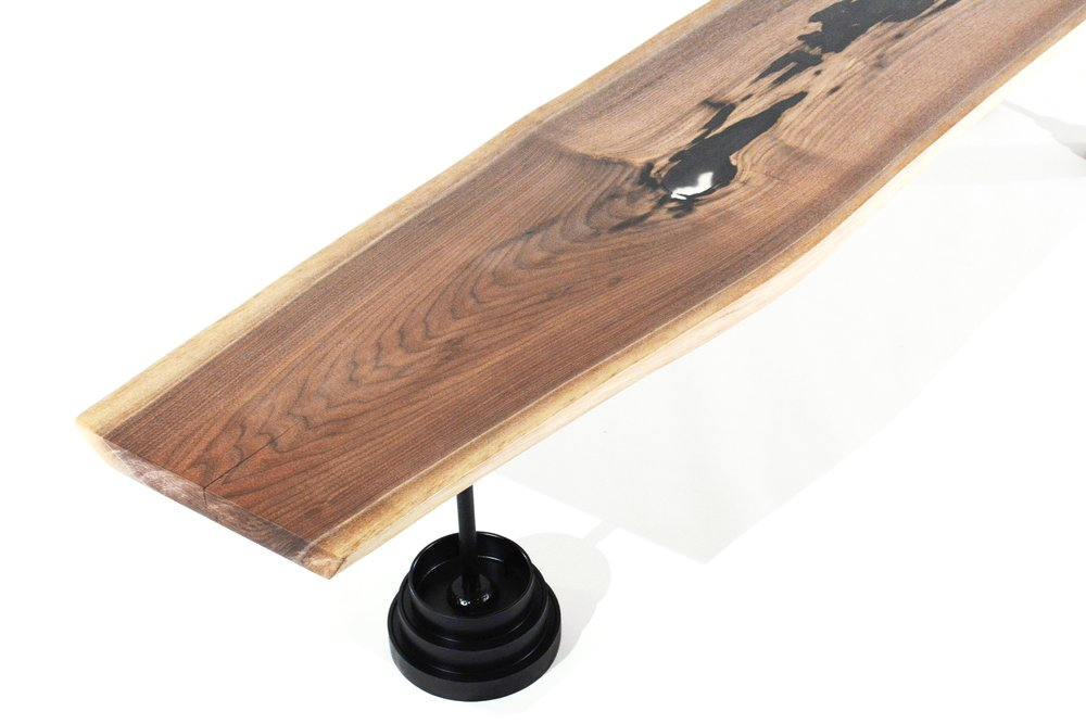 Live edge wood coffee table - minn 5 c