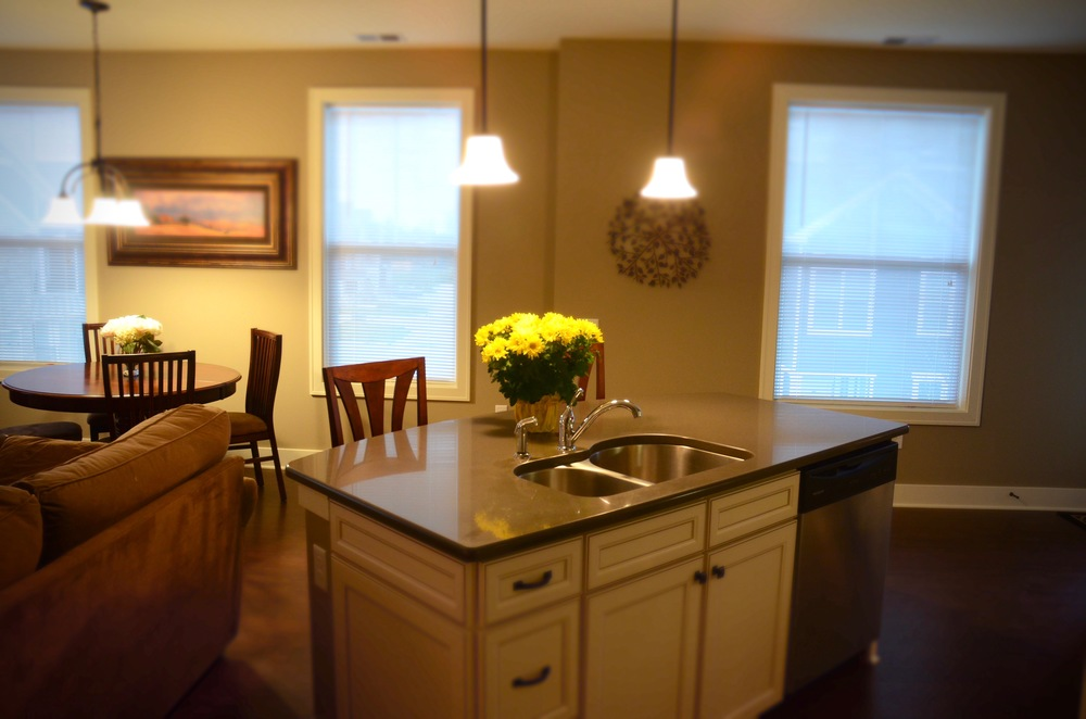 Completed kitchen/dining room