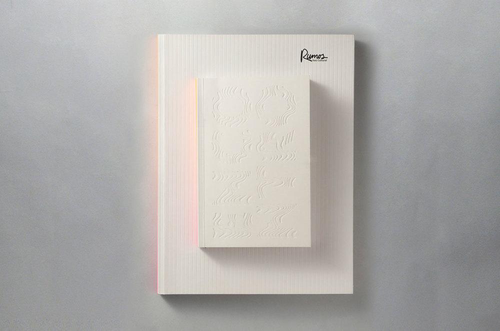 livro e livreto anexo à capa