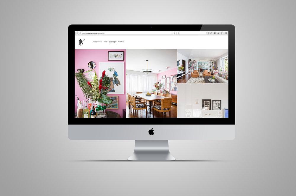 website | decoração