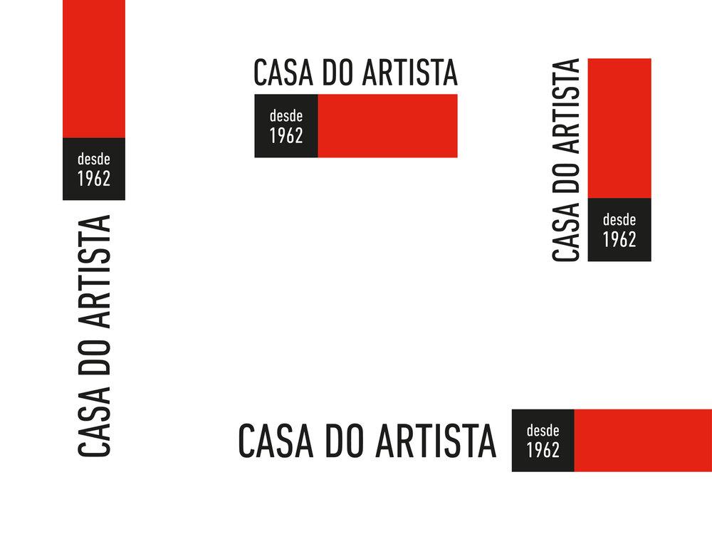 CASA DO ARTISTA | VARIAÇÕES DO LOGO