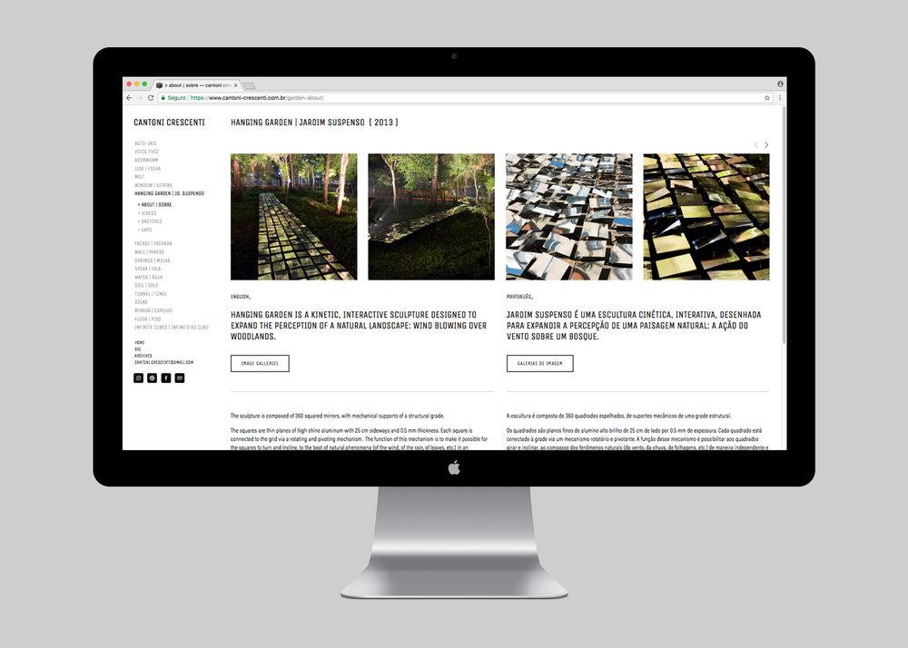 WEBSITE | JARDIM SUSPENSO