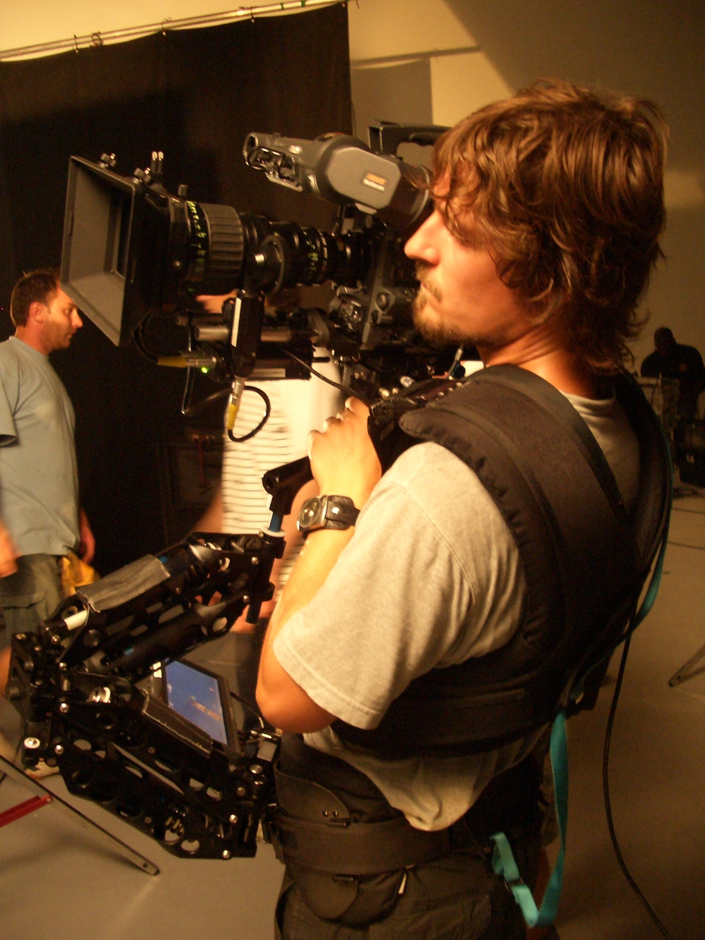 Resting Between Takes - Richard Cornelius - Steadicam Operator
