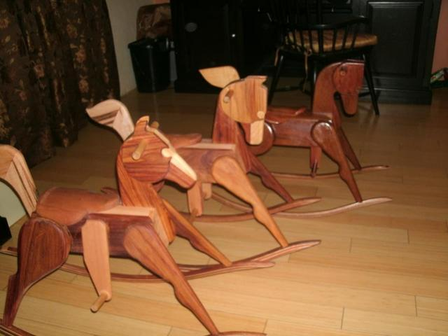 Rocking Horses in Mixed Hardwoods