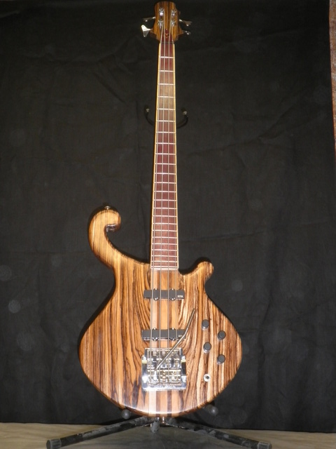 Electric Bass in Maple,Walnut, & Zebrawood
