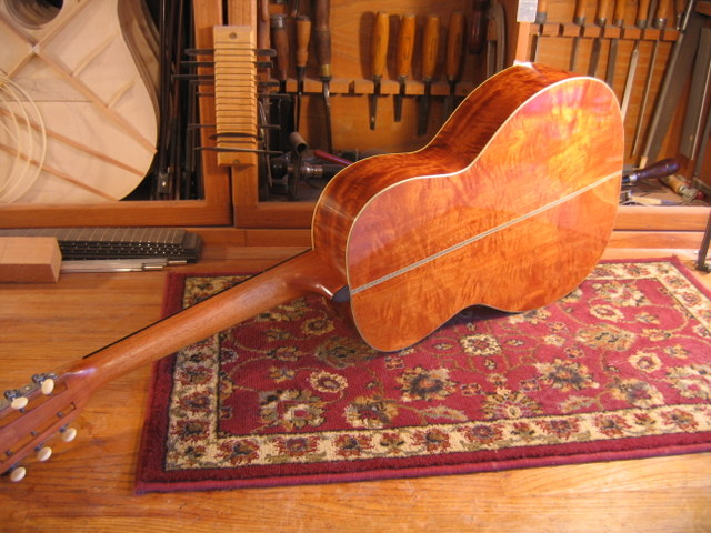 Acoustic Guitar in Beeswing Mahogany