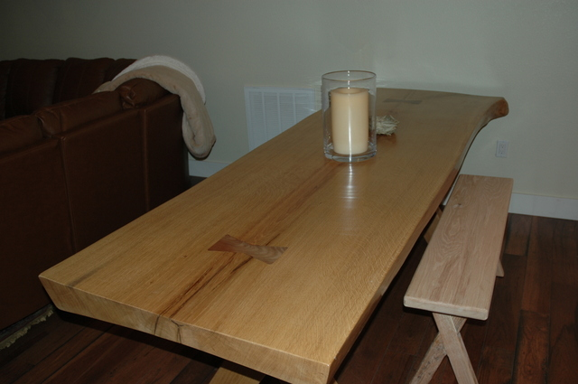 Dining Table in White Oak