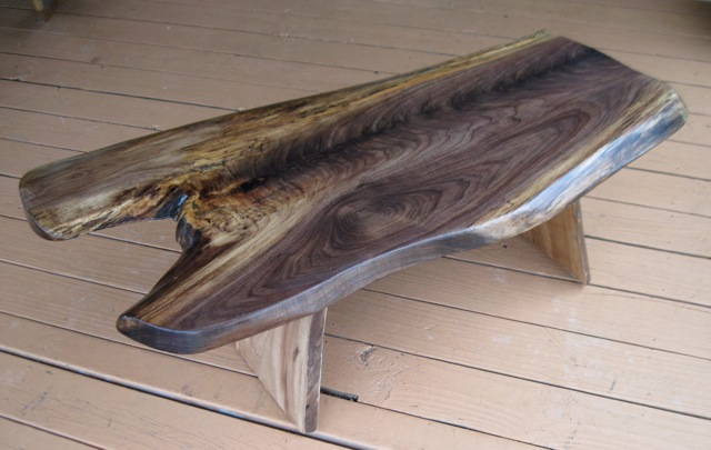 Coffee Table In Flame Walnut