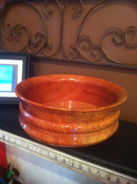 Turned Bowl In Cherry