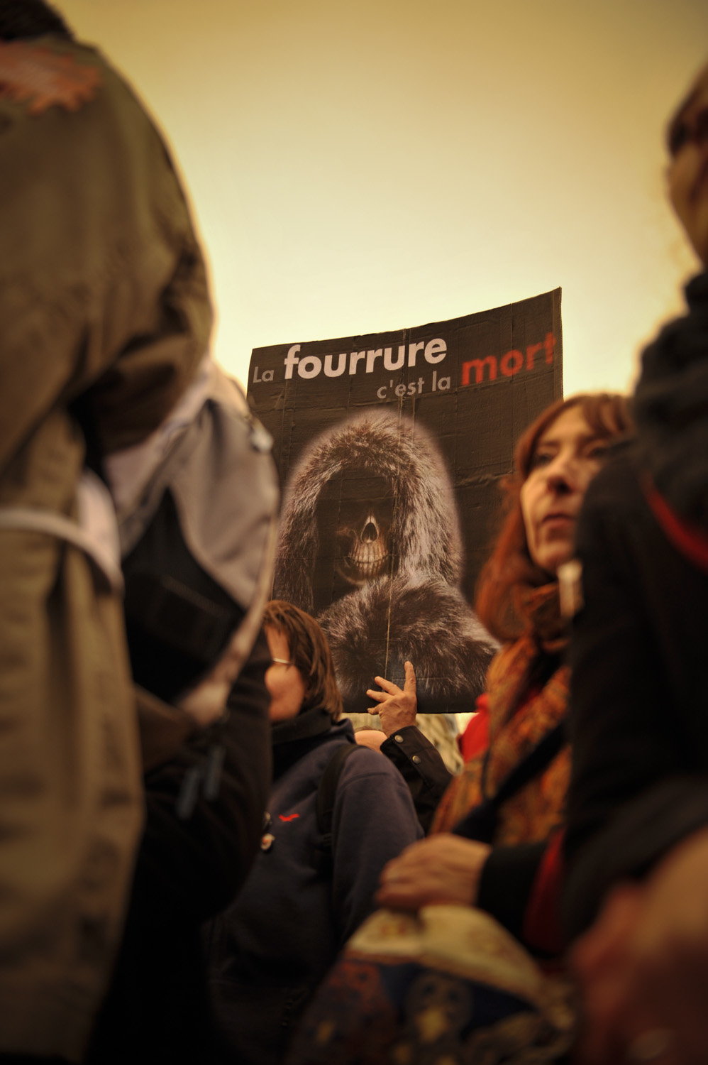 Demonstration against fur, November 2012, Paris - France. © Thierry TELAMON