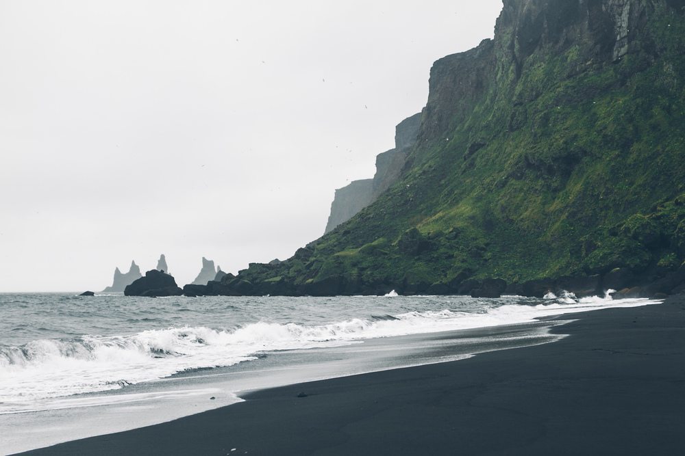 Black Sand Beach in Vík í Mýrdal