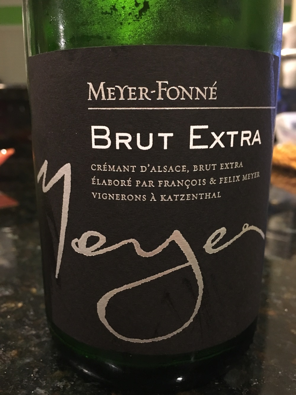 My favorite Cremant d'Alsace from Meyer-Fonné